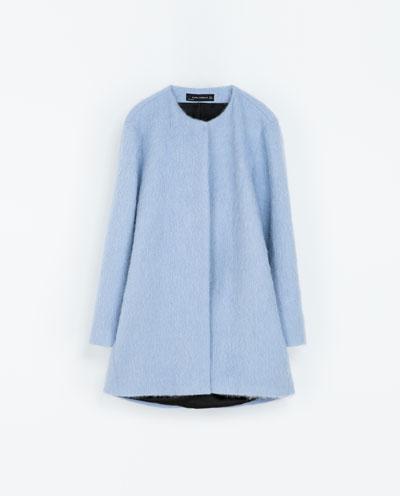 Sky blue coat zara